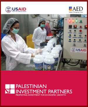 Screenshot of the Palestinian Investment Partners booklet of success stories